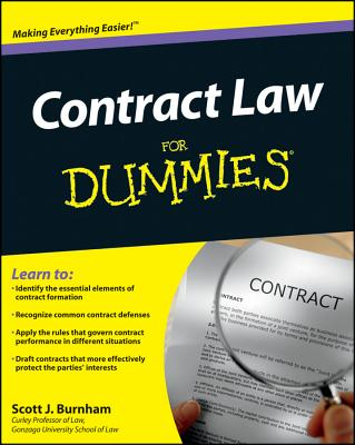 Contract Law for Dummies By Burnham, Scott J.